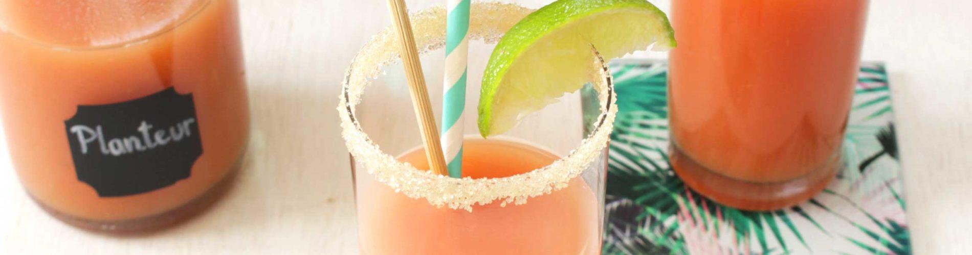 Planteur cocktail alcoolisé