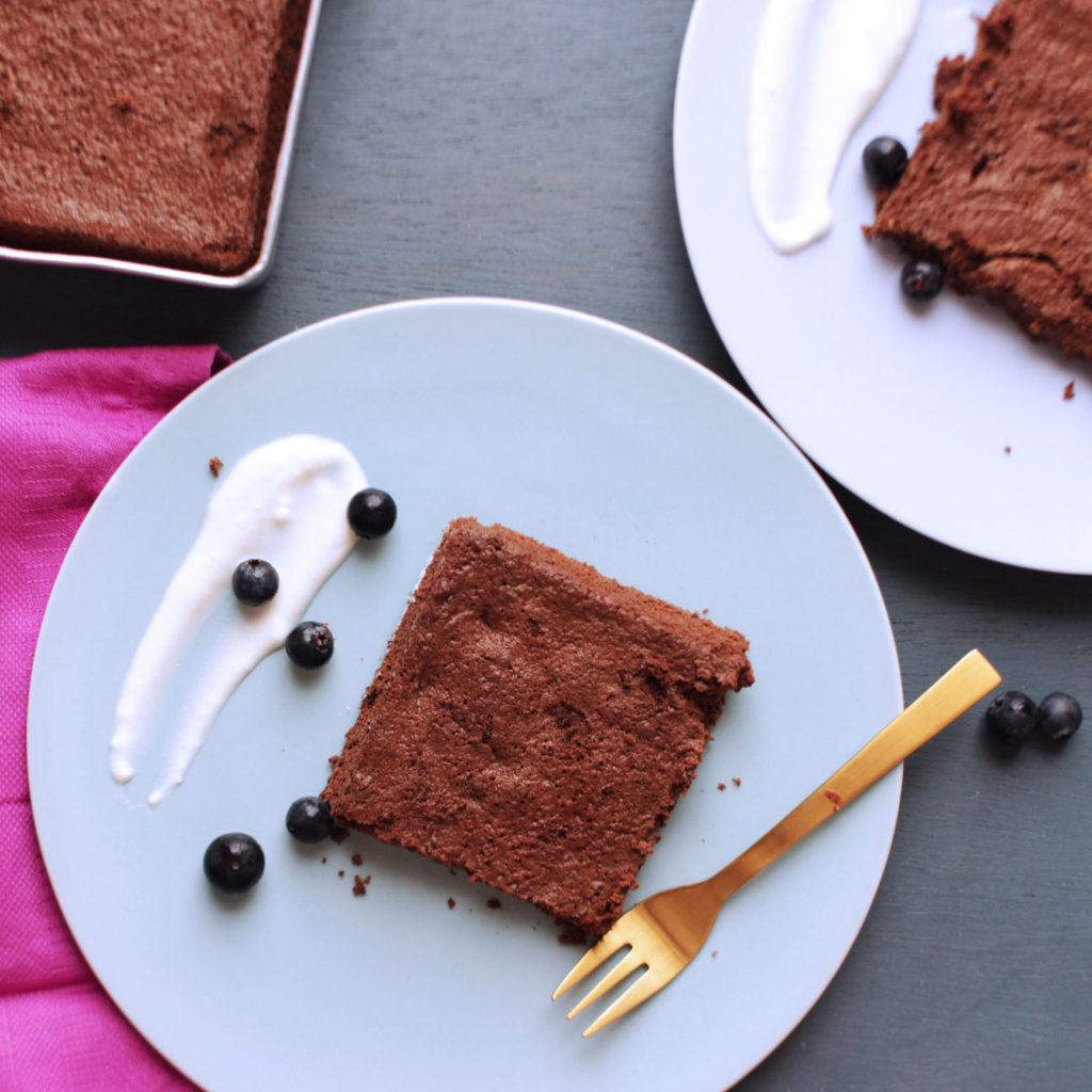 gâteau fondant au chocolat et à la courgette sans gluten et sans beurre